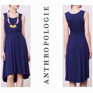 Anthropologie Navy Blue Annabel High Low Dress